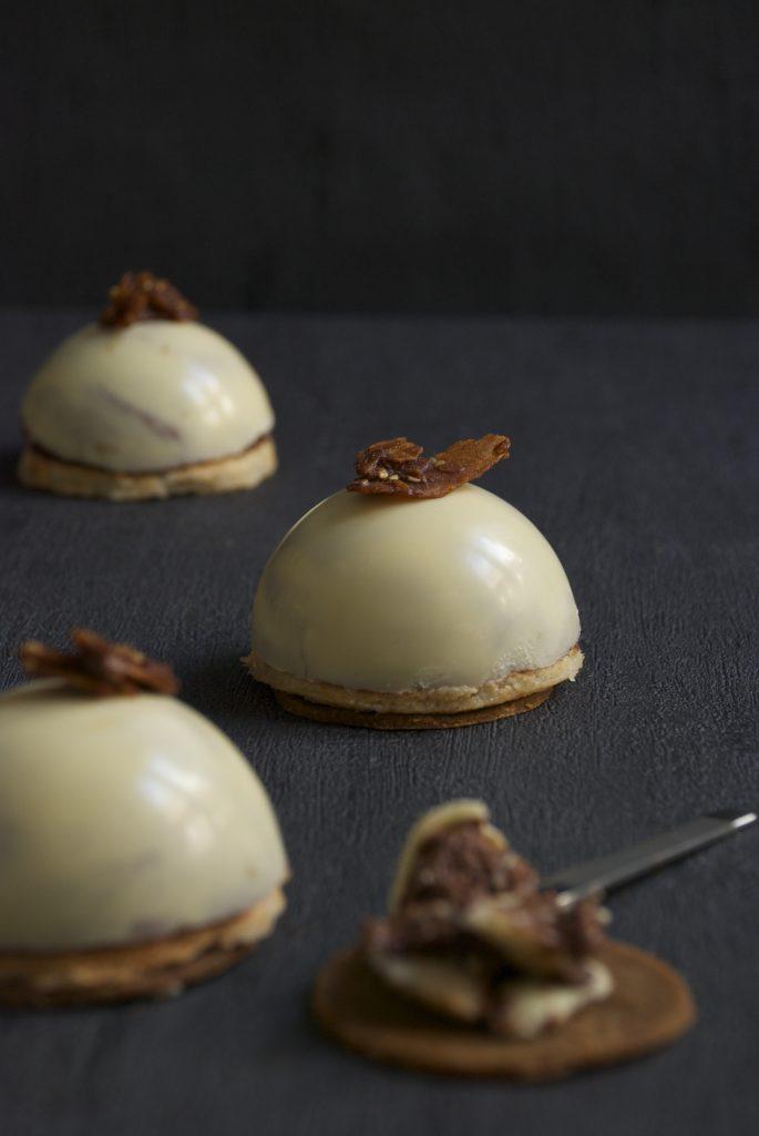 Mousse de dos chocolates y jengibre