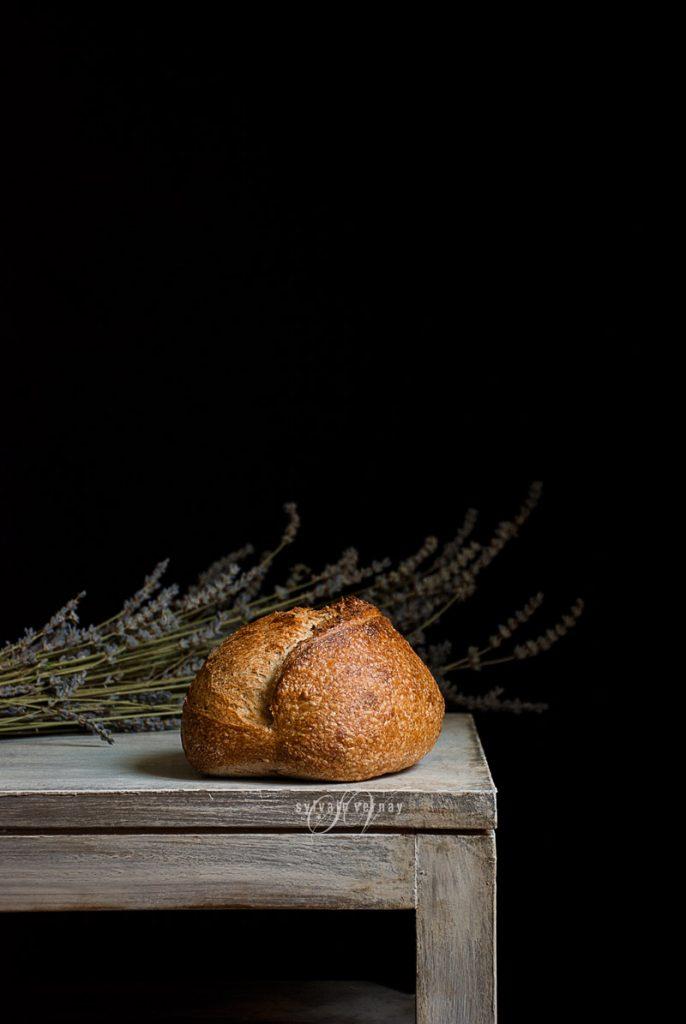 Pan rústico de masa madre